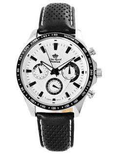 Zegarek Męski Gino Rossi Stalowy Premium S523A-3A1