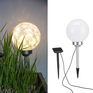 Lumarko Solarna lampa kulista LED do ogrodu, obrotowa, 20 cm