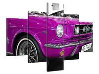 Obraz Drukowany 100x70 Różowy Mustang  kompozycja  bez zarzutu