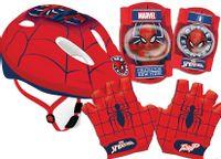 Kask rowerowy Spiderman ochraniacze, rękawiczki rowerowe Spider-Man