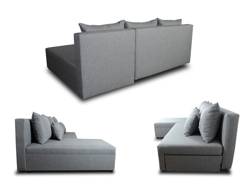 Tani narożnik rozkładany PONO z pojemnikiem - sofa rogówka łóżko zdjęcie 3