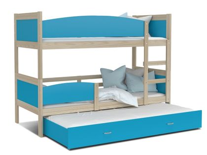 Łóżko piętrowe TWIST 3 190x80 + materace