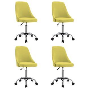 Lumarko Krzesła stołowe, 4 szt., żółte, tapicerowane tkaniną