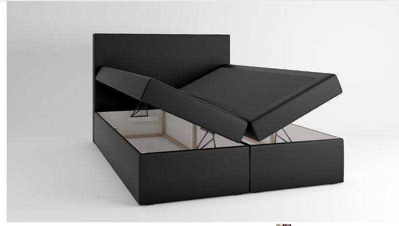 Łóżko tapicerowane kontynentalne 140x200 z materacem pojemnikiem zdjęcie 3