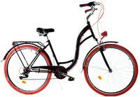 """Rower Dallas City 28"""" 7spd LUX - czarny z czerwonym"""