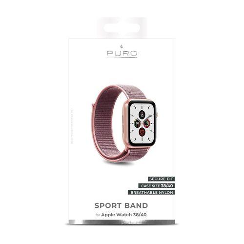 PURO Nylon - Pasek do Apple Watch 38 / 40 mm (Różowy) na Arena.pl