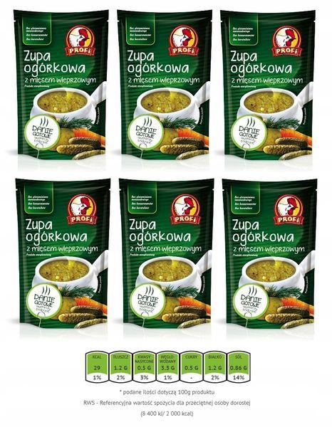 Zupa ogórkowa z mięsem wieprzowym Profi 450 g x 6 609526 na Arena.pl