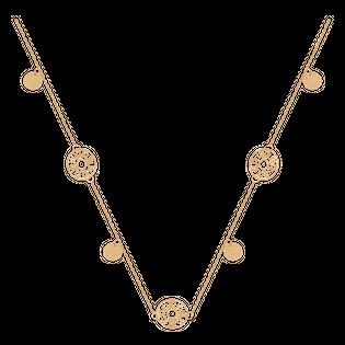 długi naszyjnik łańcuszkowy złoto 585/14k