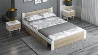 Łóżko DMD3 120x200 Białe + dąb sonoma