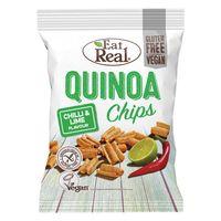 Eat Real Chipsy z mąki Quinoa o smaku chili i limonki - 80 g