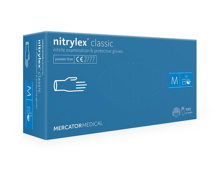 Rękawice nitrylowe nitrylex classic blue M karton 10 op x 100 szt na Arena.pl