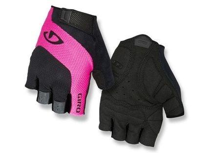 Rękawiczki damskie GIRO TESSA GEL krótki palec black pink roz. L (obwód dłoni 190-204 mm / dł. dłoni 185-195 mm) (NEW)
