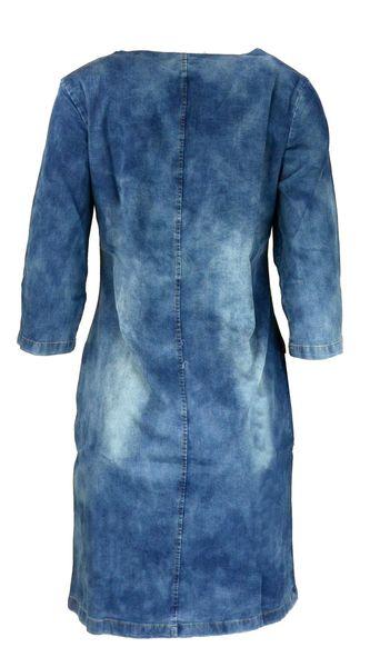 8071b6d885 Sukienka jeansowa zasuwana na zamek z przeszyciami Rozmiar - 36 zdjęcie 2