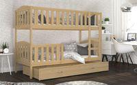 Łóżko piętrowe KUBUŚ 190x80 + szuflada + materace