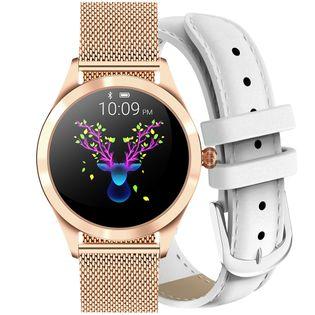 Zegarek GINO ROSSI  SMARTWATCH BF1- złoty + biały pasek