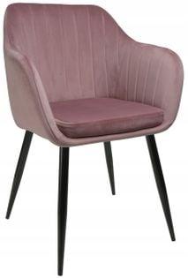 Fotel Dankor Design PIK X brudny róż WELUR