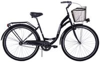 (K14) Rower miejski Kozbike 28 1bieg czarny wersja męska