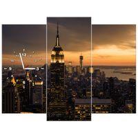 ZEGAR  Miasto Nowy Jork o świcie 90x70