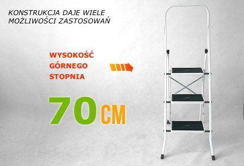 Drabinka 3 stopniowa 2023H z matą antypoślizgową do domu biura magazynu remontu na Arena.pl