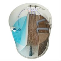 Oczyszczalnia ścieków VH6 PREMIUM 2-6 osób + studnia chłonna