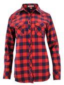 Damska koszula w szeroką kratę granatowo-czerwona Rozmiar - 42