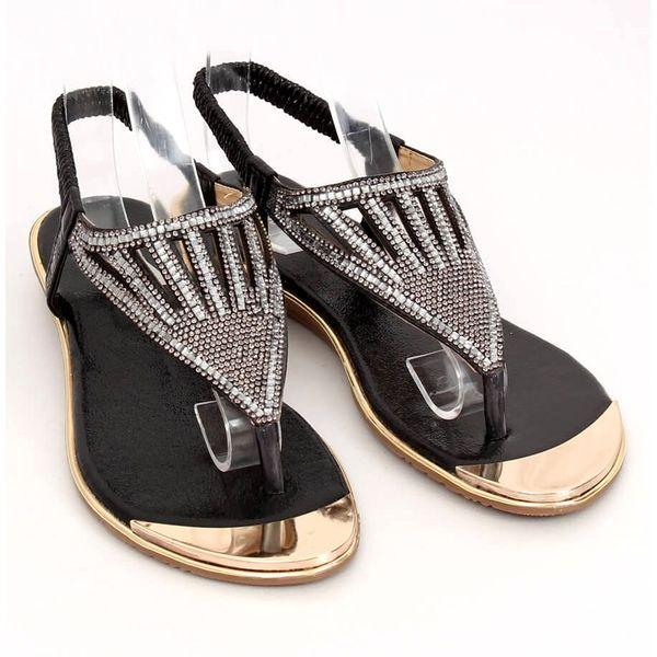 Sandałki japonki czarne M03 Black r.38 zdjęcie 4
