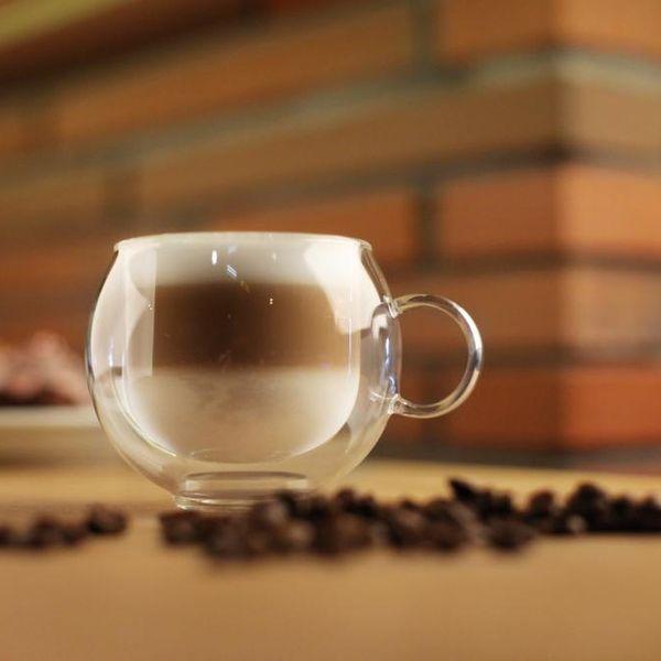 Szklanki Termiczne Kawy Cappucino 220ml Herbaty z Uchem 6 sztuk Vialli zdjęcie 2