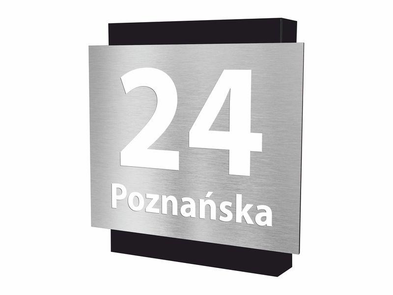 Oryginał Podświetlany numer domu Tlayer U IN LED 35x35cm • Arena.pl XZ08