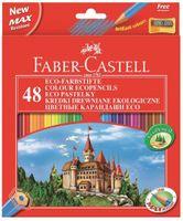 Kredki ołówkowe FABER-CASTELL Eco 48 kolorów Zamek