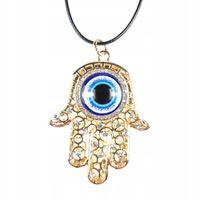 Naszyjnik oko proroka złota hamsa evil eye