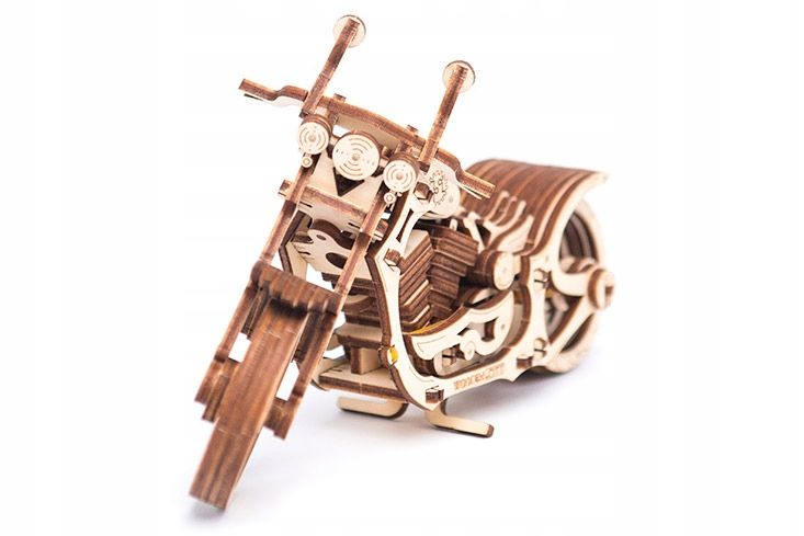 Motocykl Mechaniczne Puzzle 3D Drewniane Wooden City zdjęcie 12