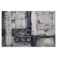 Obraz na płótnie - Canvas, Szara abstrakcja 100x70