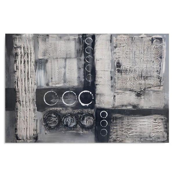 Obraz na płótnie - Canvas, Szara abstrakcja 120x80 zdjęcie 1