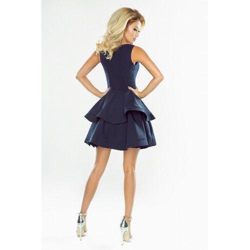 Sukienka CRISTINA rozkloszowana - GRANATOWA XL zdjęcie 2