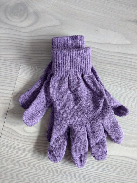 1 Kiddy rękawiczki 5-palczaste jednokolorowe fioletowe zdjęcie 2