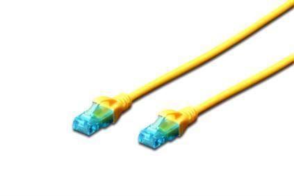 Patch cord DIGITUS UTP kat. 5e 0,25m PVC żółty