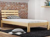 Łóżko 90x200 Drewniane Masywne Wysoki Zagłówek F4