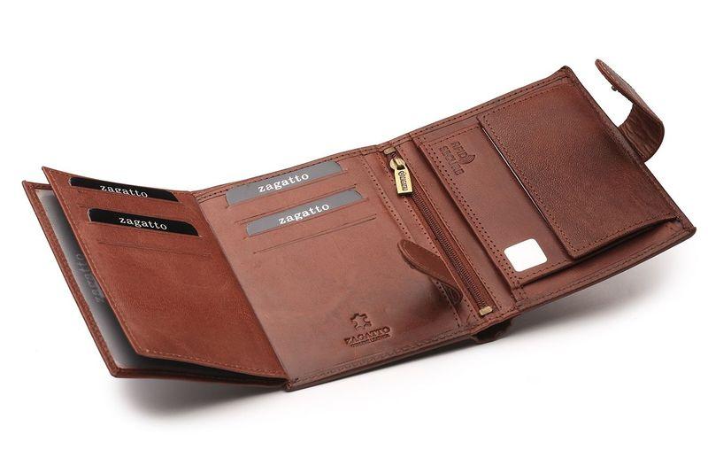 7c1961352fde0 Portfel skórzany męski Zagatto z ochroną kart RFID BLOCK N4L GT zdjęcie 6