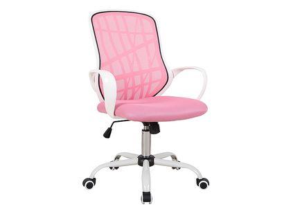 Fotel do biurka DEXTER dla dziecka RÓŻOWO/BIAŁY