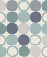 Tapeta HOTSPOT retro koła niebiesko szare 805130 Rasch