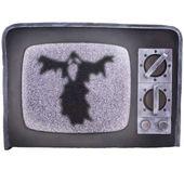 dekoracja STRASZNY TELEWIZOR horror DUCH halloween