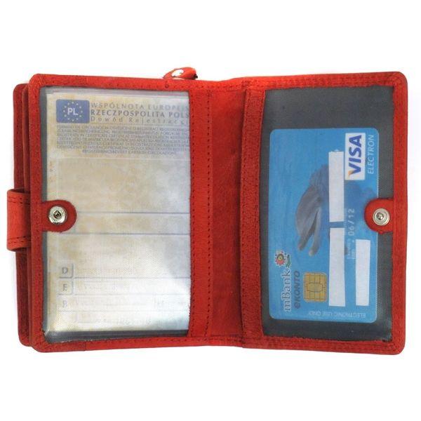 4a698d2ff61a9 Pojemny czerwony portfel damski Always Wild ze skóry nubukowej z zapięciem  zdjęcie 4