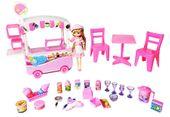 Kawiarnia Wózek z Lodami Dla Lalek Barbie Y91