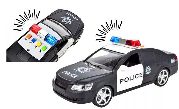 Samochód policyjny Radiowóz interaktywny dźwięki i światła Y259 zdjęcie 9