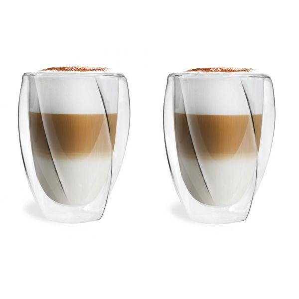 Szklanki Termiczne do Kawy Herbaty Latte Cristallo 300ml 2 sztuki zdjęcie 1