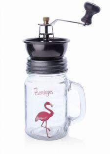 Młynek Ręczny Do Kawy Szklany 400Ml Flamingo Mondex Htid4153