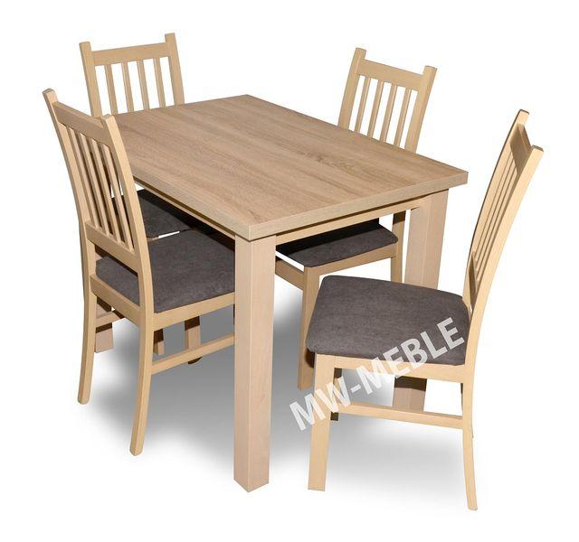 Stół 4 Krzesła Zestaw Borys Dąb Sonoma Tanio