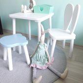 Drewniany stolik dla dziecka Kolor - zielony jasny