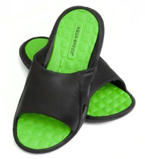 Klapki basenowe MONTANA Rozmiar - Klapki - 41, Kolor - Klapki - Montana - 38 - czarny / zielony
