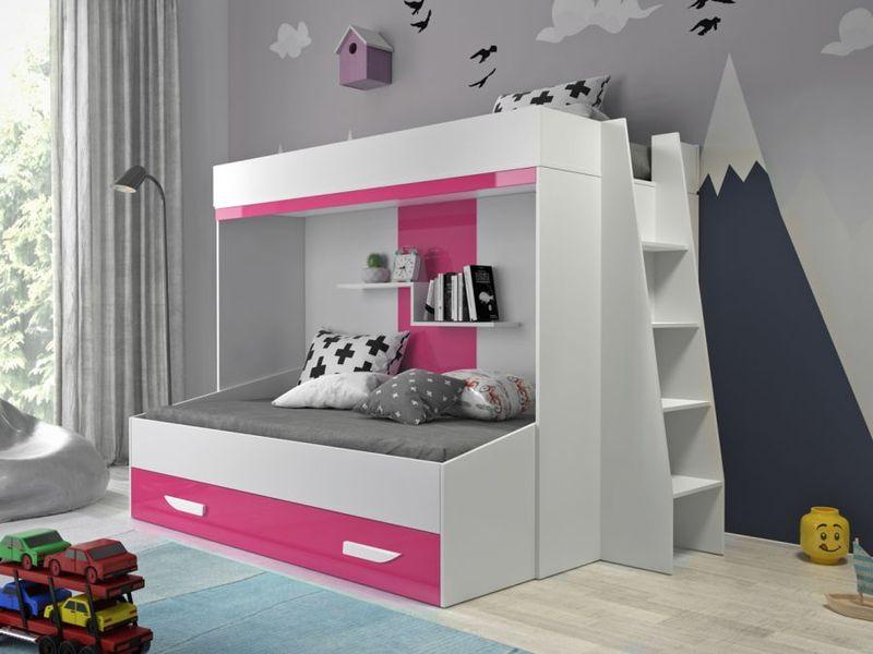łóżko Piętrowe Dla Dzieci Meble Młodzieżowe Antresola Party 17